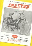 """Cyclomoteur """"PRESTAR"""" Format A4 Recto/Verso - Motos"""