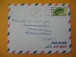 Lettre De La Réunion CFA  1972  N° 399  Caméléon Protection De La Nature - Le Port   Pour La France - Réunion (1852-1975)