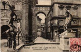 CPA Firenze Interno Della Loggia Dei Lanzi ITALY (801943) - Firenze (Florence)