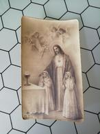 Santino Sacro Cuore Di Gesù In Ricordo Della Prima Comunione Di Elda E Pia Ravera In Rossiglione (ge) - Santini