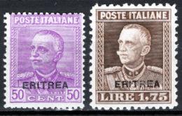 Eritrea 1928 Sass.136/37 */MH VF/F - Eritrea