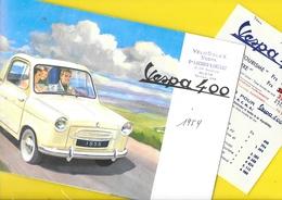 "Brochure ""VESPA 400"" 1958 + Tarifs 8 Pages Format A4 - Voitures"