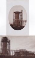 261052Hoorn, Watertoren In Aanbouw 1912 (2 FOTO KAARTEN) - Hoorn