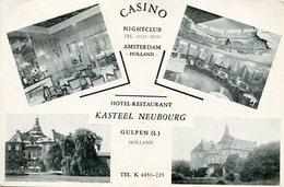 CASINO NIGHTCLUB, HOTAL KASTEEL NEUBOUG, AMSTERDAM. NEDERLAND HOLLAND POSTALE PORTAL CPA CIRCA 1940's NON CIRCULE -LILHU - Amsterdam