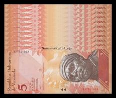 Venezuela Lot Bundle 10 Banknotes 5 Bolivares 2013 Pick 89e SC UNC - Venezuela