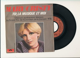 "MARY CRISTY  "" TOI,LA MUSIQUE ET MOI "" Disque POLYDOR 1976  TRES BON ETAT - Rock"