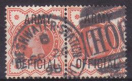 Grande Bretagne Timbre De Service Effigie Victoria 1896-1901 N°41 Paire  Oblitéré - Officials