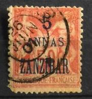 France (ex-colonies & Protectorats) > Zanzibar (1894-1904) 1896-1900 N° 28 Y & T Oblitéré - Zanzibar (1894-1904)