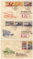 MG200)CECOSLOVACCHIA 1959 Lotto 6 FDC Raccomandate Viaggiate 5 Serie Cpl - Tschechoslowakei/CSSR