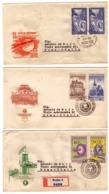 MG201)CECOSLOVACCHIA 1959 Lotto 6 FDC Raccomandate Viaggiate 1959 4 Serie Complete - Tschechoslowakei/CSSR
