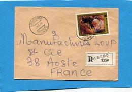 -Marcophilie-lettre REC-CONGO >Françe  Cad 1978 Loubomo- Stamps N°482 RUBENS-Madone - Congo - Brazzaville