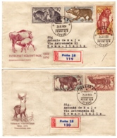 MG202)CECOSLOVACCHIA 1959 Lotto 6 FDC Raccomandate Viaggiate 1959    3 Serie Complete Tatra National Park - Tschechoslowakei/CSSR