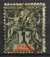 France (ex-colonies & Protectorats) >  Madagascar - Sainte-Marie (1894-1898) N° 1 Y & T Oblitéré - Oblitérés
