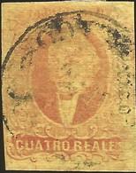 J) 1861 MEXICO, HIDALGO, 4 REALES RED, MEXICO GOTHIC, MN - Mexico