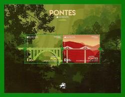 Portugal / Madeira   2018 Mi.Nr. 379 / 380 , EUROPA CEPT Pontes / Brücken - Sheet / Block - Postfrisch / MNH / (**) - 2018
