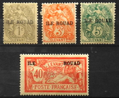 France (ex-colonies & Protectorats) > Rouad (1915-1921) 1916-20 N° 4-6-7-13 Neufs**/* - Nuovi