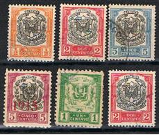 (DOM 31) REPUBLICA DOMINICANA // YVERT 157, 159, 160, 183, 207, 208 // 1911-24 - Dominican Republic