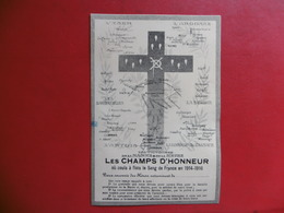 LES CHAMPS D HONNEUR L YSER L ARGONNE  1914 1916 - Documents