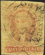 J) 1861 MEXICO, HIDALGO, 4 REALES, MEXICO GOTHIC, CIRCULAR CANCELLATION, MN - Mexico