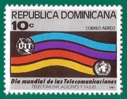 Rep. Dominicana. Dominican Republic. 1981. Scott # C333. Dia Mundial Telecomunicaciones - República Dominicana