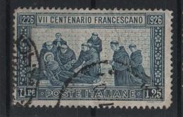 Francobolli Regno 1926 San Francesco 1,25 L. - Den.14 - Usati