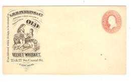 PR6550/ US Entire Letter A.H.H Perkins & Co Old Velvet Whiskey Chicago Mint - Vins & Alcools