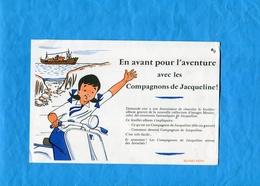 """BUVARD-En Avant  En """"SCOOTER-avec Les Compagnons De Jacqueline--années 50  Parfait état - Tweewielers"""