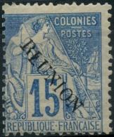 Reunion (1891) N 22 (charniere) Surcharge Renverse - Réunion (1852-1975)