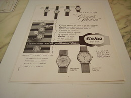 ANCIENNE PUBLICITE COLLECTION GRANDS MAITRES  MONTRE   ESKA 1955 - Joyas & Relojería