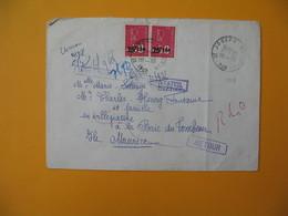 Lettre De La Réunion CFA  1972  N° 393   De Saint Joseph Pour Ile Maurice - Retour à L'envoyeur à Voir - Reunion Island (1852-1975)