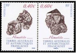 """TAAF YT 643 & 644 Paire """" Minéraux """" 2013 Neuf** - Französische Süd- Und Antarktisgebiete (TAAF)"""