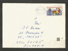 SPORT - CSSR  -  Traveled Cover To BULGARIA  - D 4158 - Cecoslovacchia