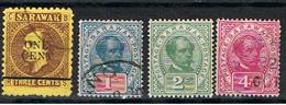 SARAWAK 1 // YVERT 26, 35, 36, 37 // 1892-99 - Sarawak (...-1963)