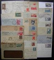Lot De 25 Lettres Et Cartes Avec Timbres Seuls Sur Lettre (un De 1917), Les Autres Modernes, Voir Photo - Marcophilie (Lettres)