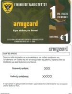 Armycard Prepaid Card 1euro,sample(xxxx) - Army