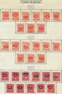 13277 NICARAGUA Collection Vendue Par Page Service  N°62/70, 71/9, 80/90 */ °   1893-95    B/TB - Nicaragua