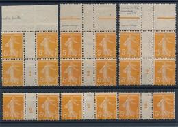 CR-233: FRANCE: Lot Millésimes* N°1158* (6) De 1922 - Millésime