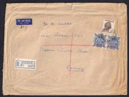 2'6 Sh. Und Paar 1 Pound Auf Schwerem Einschreib-Luftpostbrief Ab Rankstown Nach Soltau - RARITÄT - 1937-52 George VI