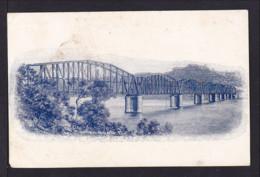 """1 P. Bild Ganzsache """"Brücke über Fluss"""" - Ungebraucht - 1850-1906 New South Wales"""