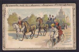 """1899 - 5 Pf. Privat Ganzsache """"Sportausstellung München - Tandem"""" - Gebraucht - Vélo"""