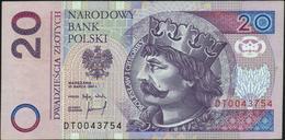 POLAND - 20 Zlotych 25.03.1994 {Narodowy Bank Polski} VF P.174 - Pologne