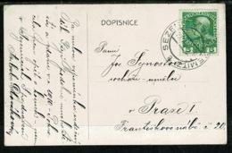Ref 1303 - Postcard - Sezemice Sezemitz Bohemia Now Czech Republic - Prastky Painting - Austria Stamp - Czech Republic