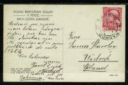 Ref 1303 - Early Postcard - Pozadi Bartonovy Utulny - Nachod Bopmemia Now Czech Republic - Austria Stamp - Czech Republic