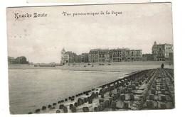 Knocke Zoute - Vue Panoramique De La Digue - Circulée En 1913 - 2 Scans - Knokke