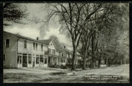 Ref 1303 - USA Postcard - Shops & Houses Main Street Lakeville Connecticut - Other