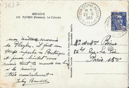 St Christophe Du Luat - Mayenne 1953 - Marcophilie (Lettres)