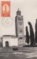 Carte Maximum   MAROC   25éme  Foire  Exposition  De  MARRAKECH   1950 - Marokko (1891-1956)