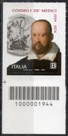 Italia Rep. 2019 - Anniversario Della Nascita Di Cosimo I De' Medici Codice A Barre MNH ** - 6. 1946-.. República