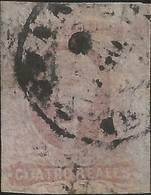 J) 1861 MEXICO, HIDALGO, 4 REALES CIRCULAR CANCELLATION, MN - Mexico