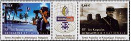 """TAAF YT 718 & 719 Paire Vignette """" Gendarmerie Nationale """" 2014 Neuf** - Französische Süd- Und Antarktisgebiete (TAAF)"""